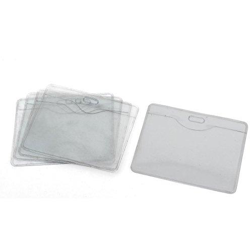 Sourcingmap-targhetta nome azienda in orizzontale, porta Badge per carta d'identità, confezione da 5, colore trasparente