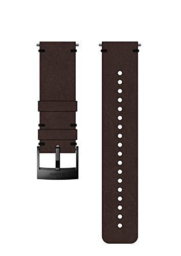 Suunto SS050232000 Correa de sustitución original para todos los relojes Suunto Spartan Sport WRH y Suunto 9, Cuero, largo: 22,7 cm, ancho: 24 mm, incluye pasadores de fijación, marrón/negro