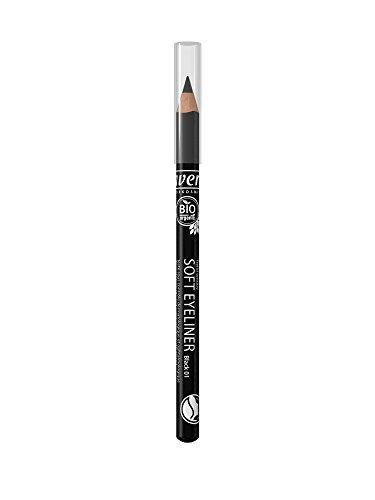 lavera Soft Eyeliner Black schwarz ∙ Kajal Liner ∙ Präziser Lidstrich ∙ Natural & innovative Make up ✔ vegan ∙ Bio Pflanzenwirkstoffe ∙ Naturkosmetik 1er Pack (1 x 1 g) - 2