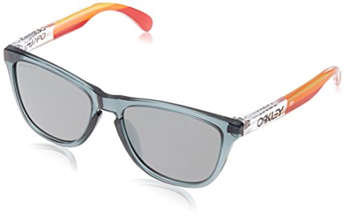 Oakley Men's Frogskins Asian Fit Sunglasses,OS,Crystal Black/Prizm Black