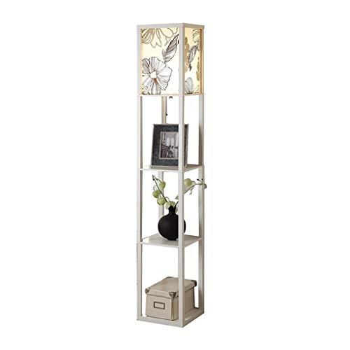 Innenbeleuchtung LED Shelf Stehleuchte - Moderne Stehleuchte for Wohn- und Schlafzimmer - Asiatischer Holzrahmen mit Open Box Display Regalen Stehleuchten Beleuchtung (Color : C-26 * 160cm) -