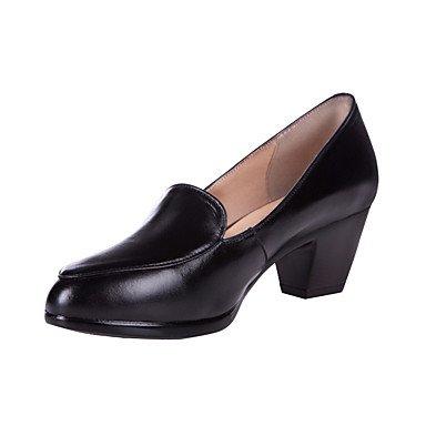 Rtry Femmes Formelles Talons Printemps Automne Chaussures En Cuir Charge & Amp; Chunky Black Heel Carrière 1a-1 3 / 4in Noir Us9 / Eu40 / Uk7 / Cn41 Us8.5 / Eu39 / Uk6.5 / Cn40