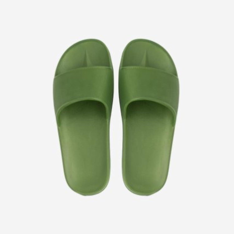 Fankou Four Seasons zapatillas dormitorio baño home tiene un verano antideslizante ,36-37, verde