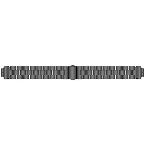 Nortongrace Rare Stainless Steel Inspire Metal Strap Men Women Replacement Writstand Fitness Tracker(None Black(Three Beads)) -