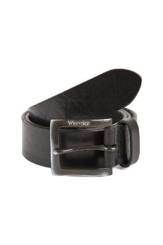 Wrangler Jeans Leder Gürtel Kabelbuckle schwarz (Leder Wrangler)