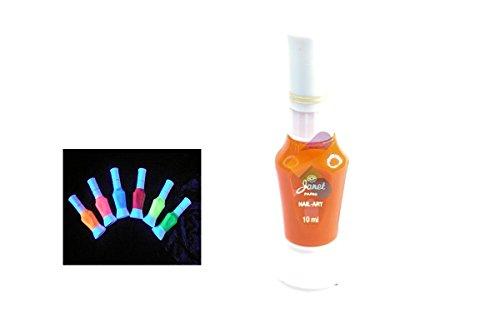Stylo pinceau Vernis 2 en 1 UV Ultra Violet - Nail art - Orange