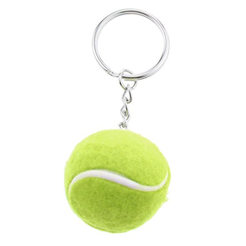 Gazechimp Juegos de Colgante Llavero Anillo Dominante Pendiente de Aleación Elegante en Forma de Pelota de Tenis - Verde
