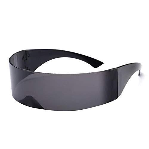 Kostüm Futuristisches Männer - CRAVEN Lustige futuristische Wrap Around Monob Kostüm Sonnenbrille Maske Neuheit Brille Halloween Party Party Supplies Dekoration, schwarz