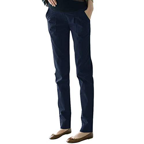 Wetry pantaloni premaman da cerimonia primaverili,pantaloni gravidanza prenatal pantaloni casual,leggings premaman donna cotone skinny fit leggings/l
