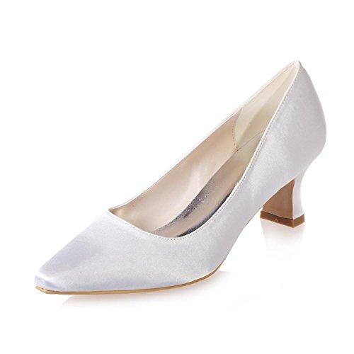 L@YC Frauen Hochzeit Schuhe & 0723-01 / Seide / Wies Professionelle KostüMe Party / Mehr VerfüGbare Farben , white , 40