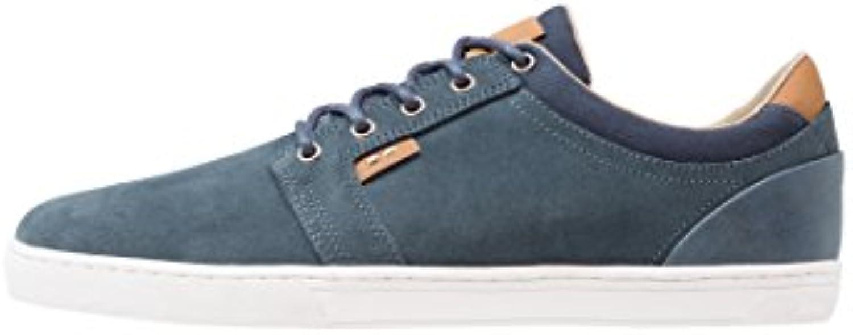 Pier One Wildleder Sneaker Herren in Grau oder Blau – Low Top Sneakers Aus Veloursleder - Turnschuhe Aus Lederö -