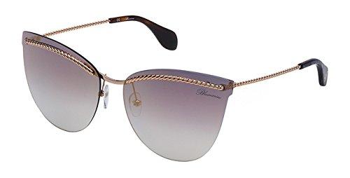 Occhiali da sole blumarine glasant donna oro rosè lucido lenti blu gradient mirror gold sbm106 0300 63-15-135
