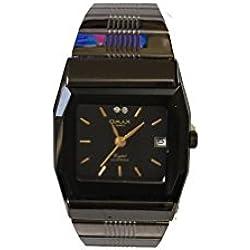 Luxury Dress Style Omax Ladies Women Wrist Watch Black Strap Black Analog Dial Quartz
