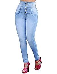 Jeans Grande Taille Automne Hiver Femmes Élastique Bouton Lâche Casual  Petits Pieds Trou Ripped Trou Denim 4d74e2e2aeb