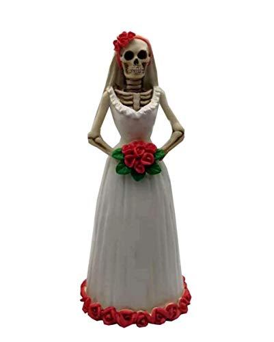 Horror-Shop Dia de los Muertos Braut Figur 15 cm Polyresin