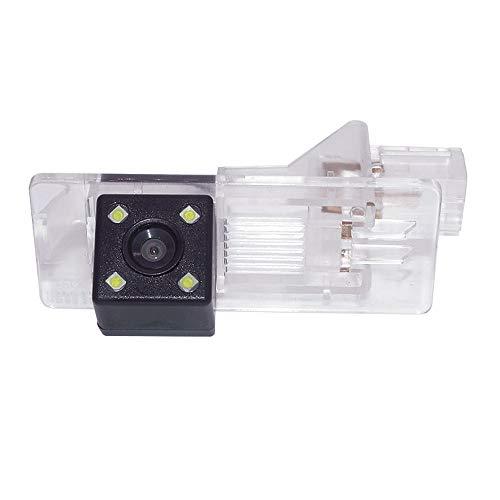 Farb Rückfahrkamera integriert in die Nummernschildbeleuchtung LED Kennzeichenbeleuchtung Kamera mit Distanzlinien für Dacia Lodgy/Fluence/Duster Megane/Latitude/Scenic 2/ Laguna Clio 4