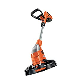 BLACK+DECKER GLC1823L20-QW Coupe-bordures sans fil – 2 vitesses – 1 batterie – Tube telescopique et 2nd poignée réglable, 18V, Orange/Noir, 23 cm