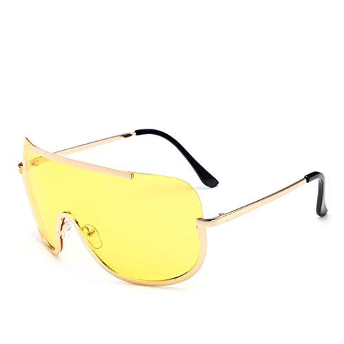 Btruely Vintage Sonnenbrille Herren Damen Polarisierte Sonnenbrille Männer Frauen Fahrbrille 2018 Klassische Sportbrille Retro Aviator Spiegel Objektiv Sonnenbrillen (Gelb)