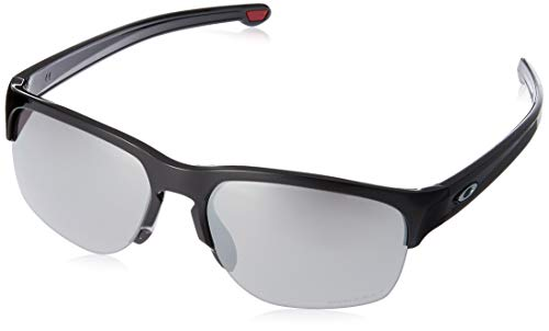 Oakley Men's Sliver Edge Asian Fit Sunglasses,OS,Polished Black/Prizm Black