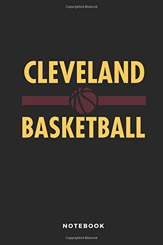 Cleveland Basketball Notebook: 6x9 Blank Lined Basketball Composition Notebook or Journal for Coaches and Players por iHoop Publishing