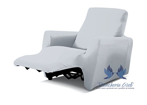 Copripoltrona reclinabile genius relax lounge in tinta unita poltrona bianco