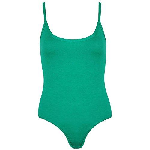 Janisramone - Débardeur - Uni - Sans Manche - Femme * taille unique Vert jade