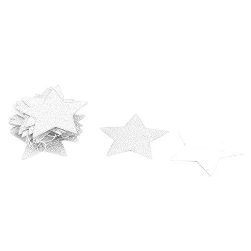 sourcingmap® Papier Stern Form Glitter Party Dekor DIY Foto Prop Bunting Banner Silber (Diy-bunting)