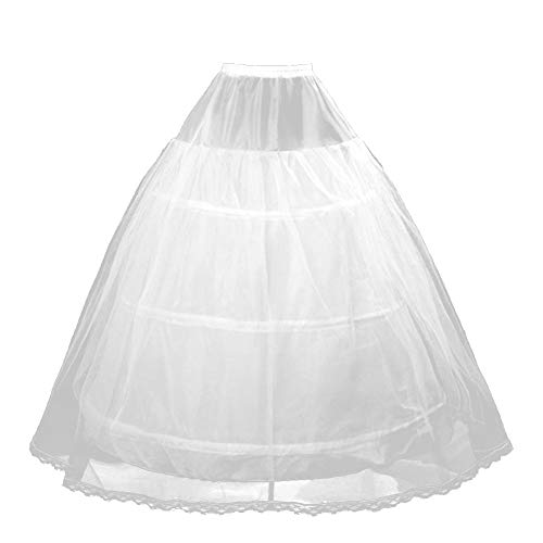Nannday Wedding Petticoat, Women Hoopless A-line Elastic, used for sale  Delivered anywhere in UK
