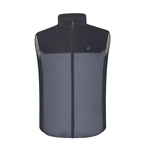 MaJia-nh Winter-warme USB-elektrischer erhitzter Vest Top 5V Lade Heizung Kleidung für Outdoor-Motorrad Camping Fahrrad-Reiten Jagd Golf,XXXL -