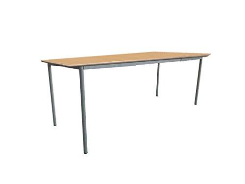 Mobeduc pour Enfant Extensible Table carrée, Bois, hêtre, Taille 1, 140 x 60 x 46 cm