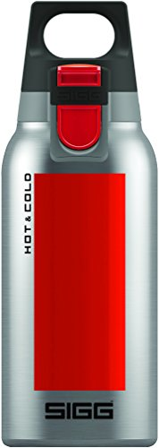 SIGG Hot & Cold ONE Accent Red, Vakuum-isolierte Thermo-Flasche aus Edelstahl, 0.3 L, BPA Frei, Rot (Thermoskanne Hot)