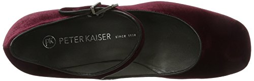 Peter Kaiser - Carrih, Scarpe col tacco Donna Rot (Cabernet Velvo Schwarz Nappa)