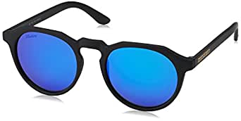 Hawkers WTR12, Occhiali da Sole Unisex-Adulto, Nero (Negro / Azul), 60