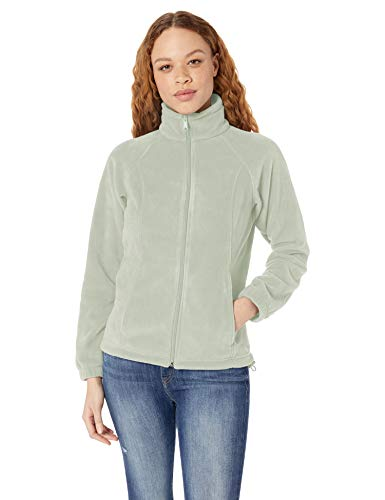 Columbia Damen Benton Springs Full Zip Fleecejacke, Cool Green, 2X Columbia Full Zip Sweater