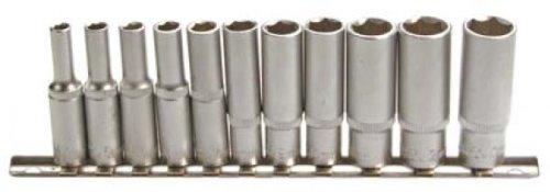 """BGS 2221 - Juego de piezas de llaves de vaso largas 6,3mm (1/4\"""") 4-13mm, 11 unidades"""