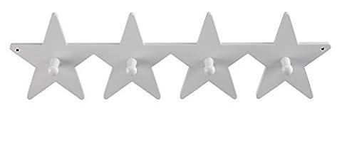 Kids Concept- Kleiderhaken STAR- Kinderzimmer Stern Holzmöbel - 50cm, Weiß