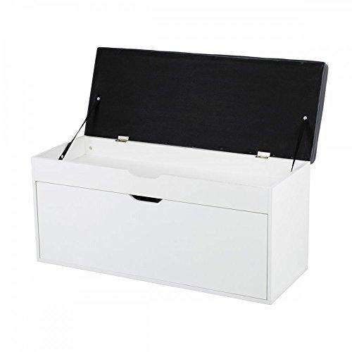 Kunes - Banco de almacenamiento – Mueble zapatero de madera con ...