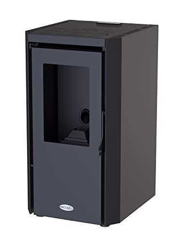 Estufa de Pellets Negro 6KW