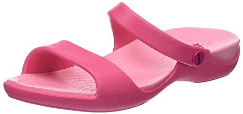 Crocs cleo v, sandali a punta aperta donna, rosa (paradise pink), 37/38 eu