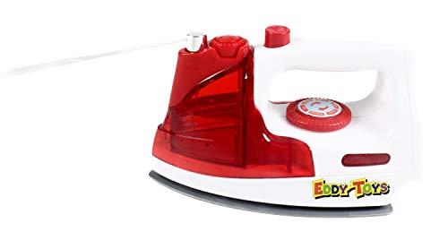 Eddy Toys Kinder-Bügeleisen mit Licht- und Tonfunktion, Wassertank mit Sprühfunktion, batteriebetrieben