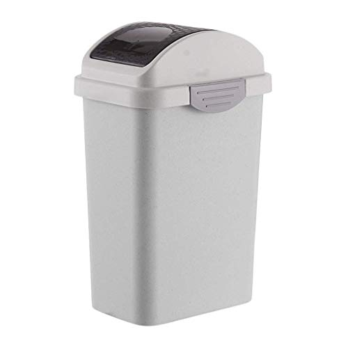 ZTMN Büro Shaker Müll Haushalt Badezimmer Schmaler Schlitz Rechteckig Abgedeckte Toilettenspange Küche Einfach (Farbe: A, Größe: S) Shaker Schlitz