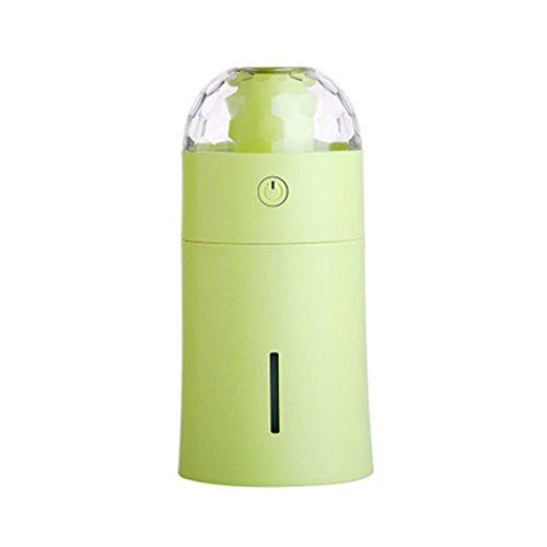 Befeuchter LED Bunte Nachtlicht USB-Projektor Aromatherapie Mini Car Air Purifier Haushalts Sprayer Zerstäuber,Green