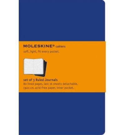 MOLESKINE CAHIER LARGE RULED JOURNAL (BLUE) BY MOLESKINE[PAPERBACK]