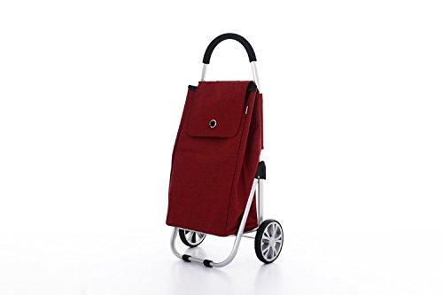 Moderner Luxus Einkaufswagen Einkaufsroller Einkaufstrolley Einkaufstasche Shopper (Rot)