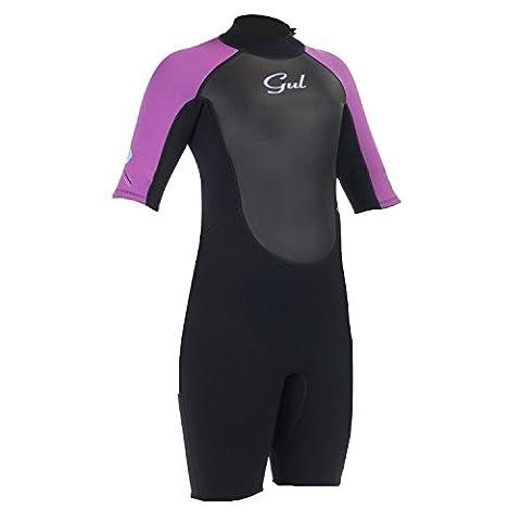 Gul Response Junior 3/2mm Shorty Wetsuit Black/Iris RE3321 Junior Sizes - JUNIOR MEDIUM