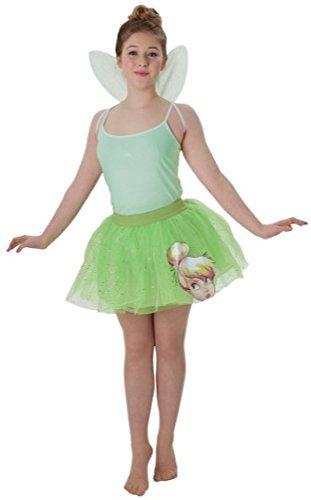 Damen Teen Disney Tinkerbell Fee Tutu & Wings Kostüm Kleid Outfit Satz - Grün - Grün, Damen, 6-8, (Tinkerbell Frauen Kostüme Für)