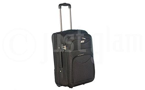 Trolley da cabina cm.55 valigia tessuto 2 ruote compatibile voli lowcost come easyjet rayanair art 1222 / verde