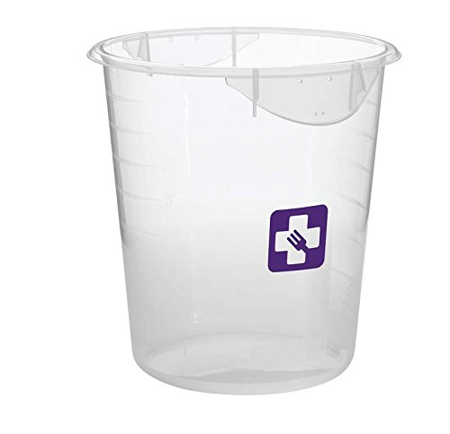 Rubbermaid 1980405 Farbe Kodiert rund Container, 7,6 l, Violett (12 Stück) (Tupperware Set Rubbermaid)