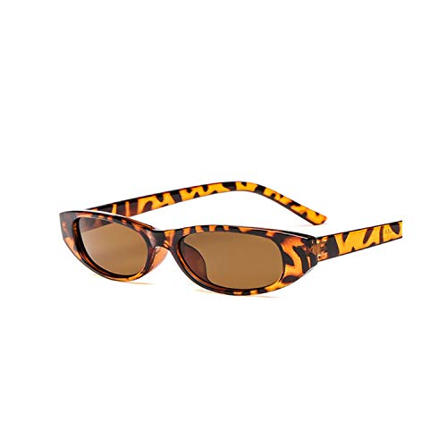 Vikimen Sportbrillen, Angeln Golfbrille,Women Men Small Frame Sunglasses Unisex Brown Leopard Red Black Small Sun Glasses For Women UV400 as picture Black