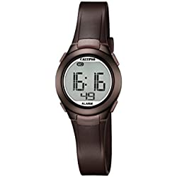 Calypso Unisex Digital Watch with LCD Dial Digital Display and Brown Plastic Strap K5677/6